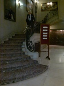 RAC Club stairs where Big Merv and Lucy argue