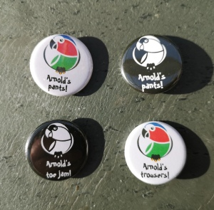 picture of K'Barthan series themed badges